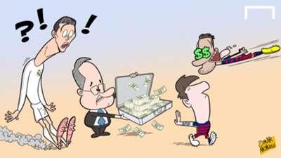 CARTOON Messi's Madrid offer