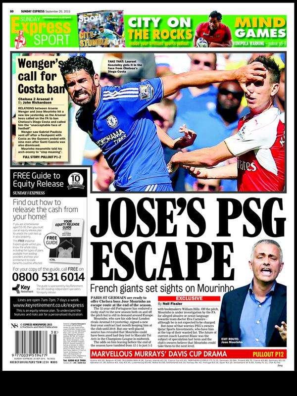 Sunday Express back page 20092015