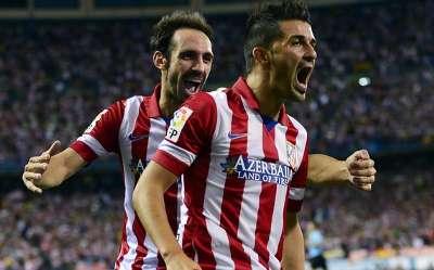 David Villa & Juanfran, Atletico Madrid - Barcelona