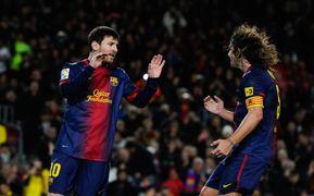 Lionel Messi Carles Puyol
