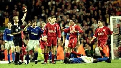 Steven Gerrard Liverpool Everton 27091999