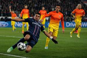 Thiago Silva, playing against Barcelona with PSG