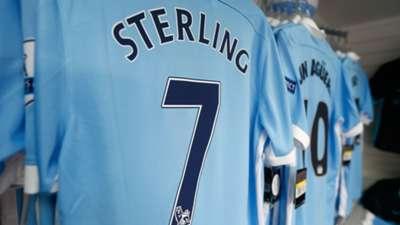 Manchester City club shop shirts