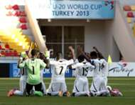 Ghana U-20 Black Satellites praying