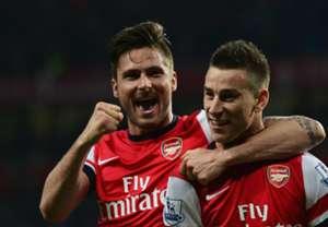 Olivier Giroud Laurent Koscielny Arsenal Premier League