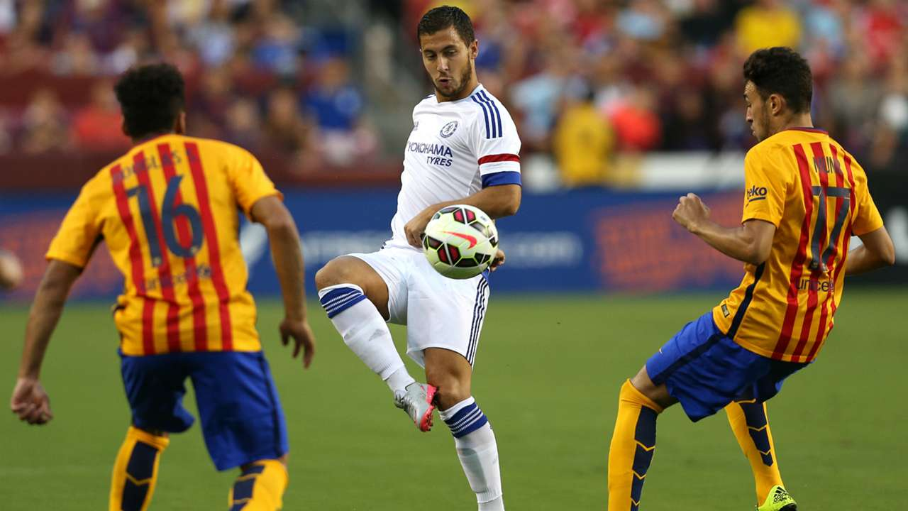 Eden Hazard and Luis Suarez star as Chelsea and Barcelona lock horns in the International Champions Cup