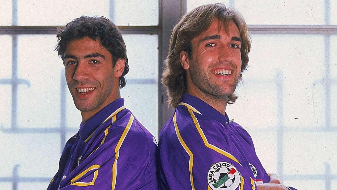 Rui Costa Gabriel Batistuta Fiorentina