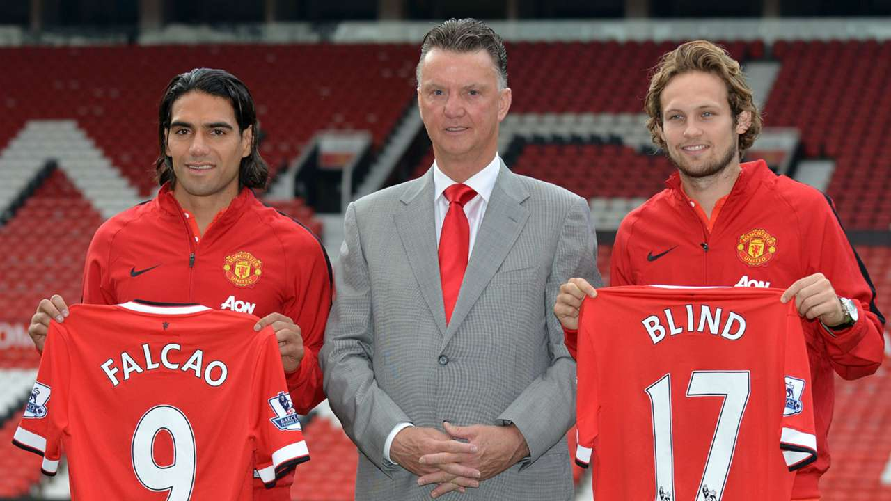 Louis van Gaal, Falcao, Daley Blind