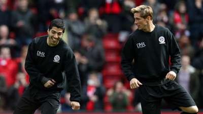 Luis Suarez Fernando Torres Liverpool Charity Match 29032015