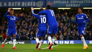Loic Remy Eden Hazard Didier Drogba Willian Chelsea Stoke City Premier League 04042015