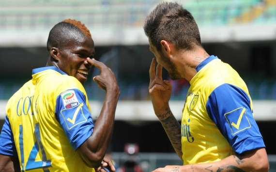 Cyril Thereau and Isaac Cofie (Chievo)