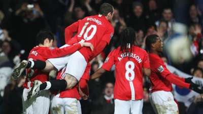 Wayne Rooney Patrice Evra Anderson Nani Manchester United Arsenal FA Cup 16022008