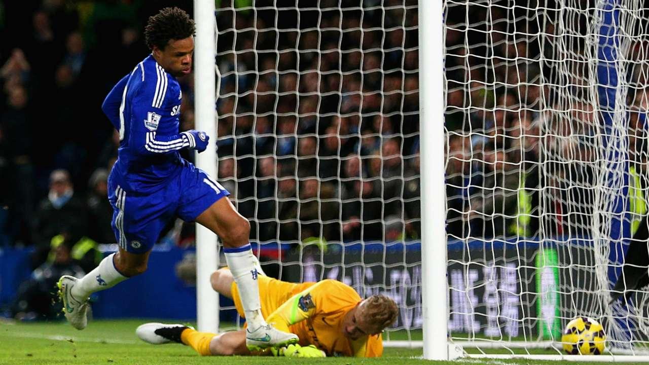 Loic Remy Joe Hart Chelsea Manchester City Premier League 31012015