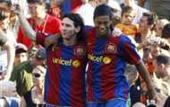 Lionel Messi and Ronaldinho