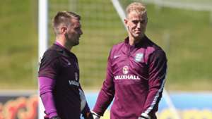 Joe Hart Tom Heaton England Training 04062015