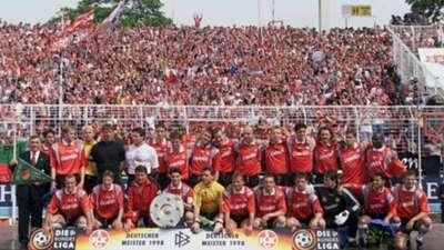 Kaiserslautern winning the Bundesliga in 1998