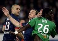 Alex Zlatan Ibrahimovic Mustapha Bayal Sall Paris SG Saint-Etienne Ligue 1 03162014