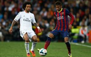 Marcelo im Duell mit Barcas Neymar
