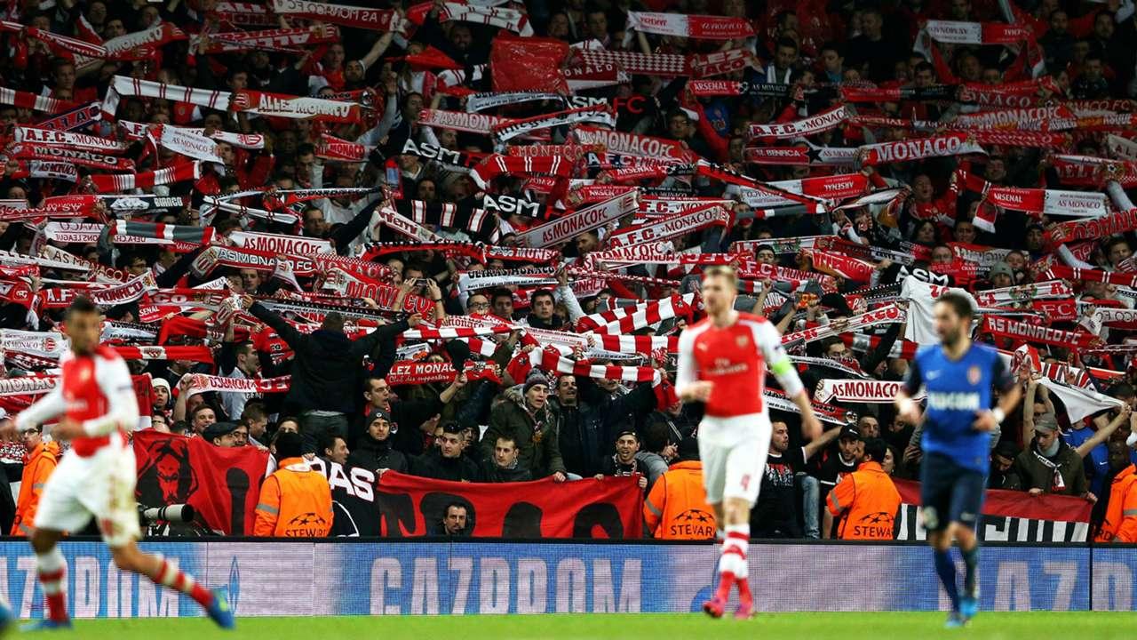 Monaco fans vs Arsenal