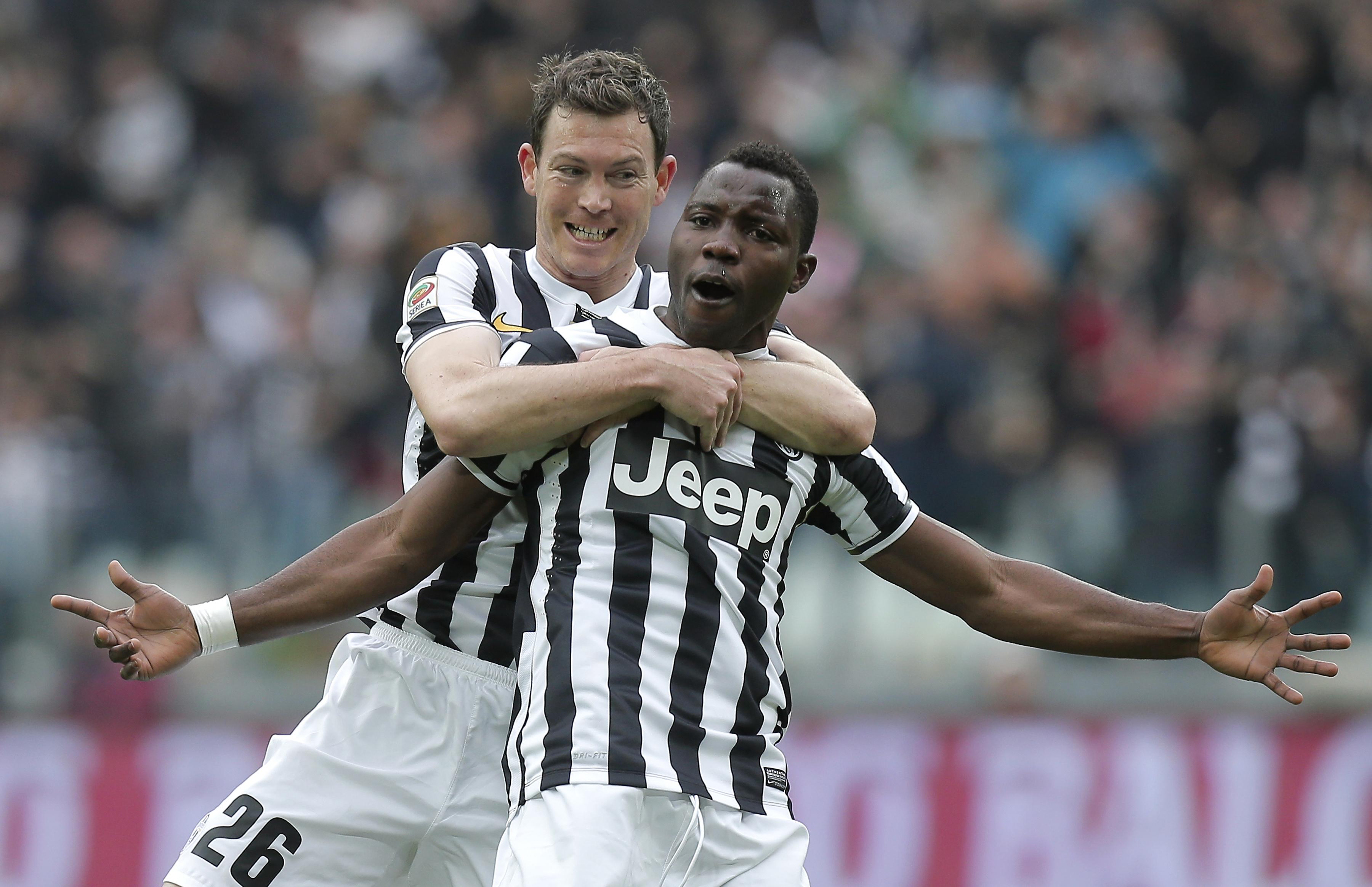 Juventus star Kwadwo Asamoah celebrates