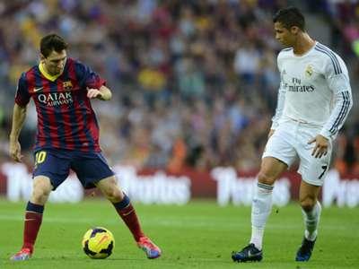 Duell der Superstars: Lionel Messi gegen Cristiano Ronaldo