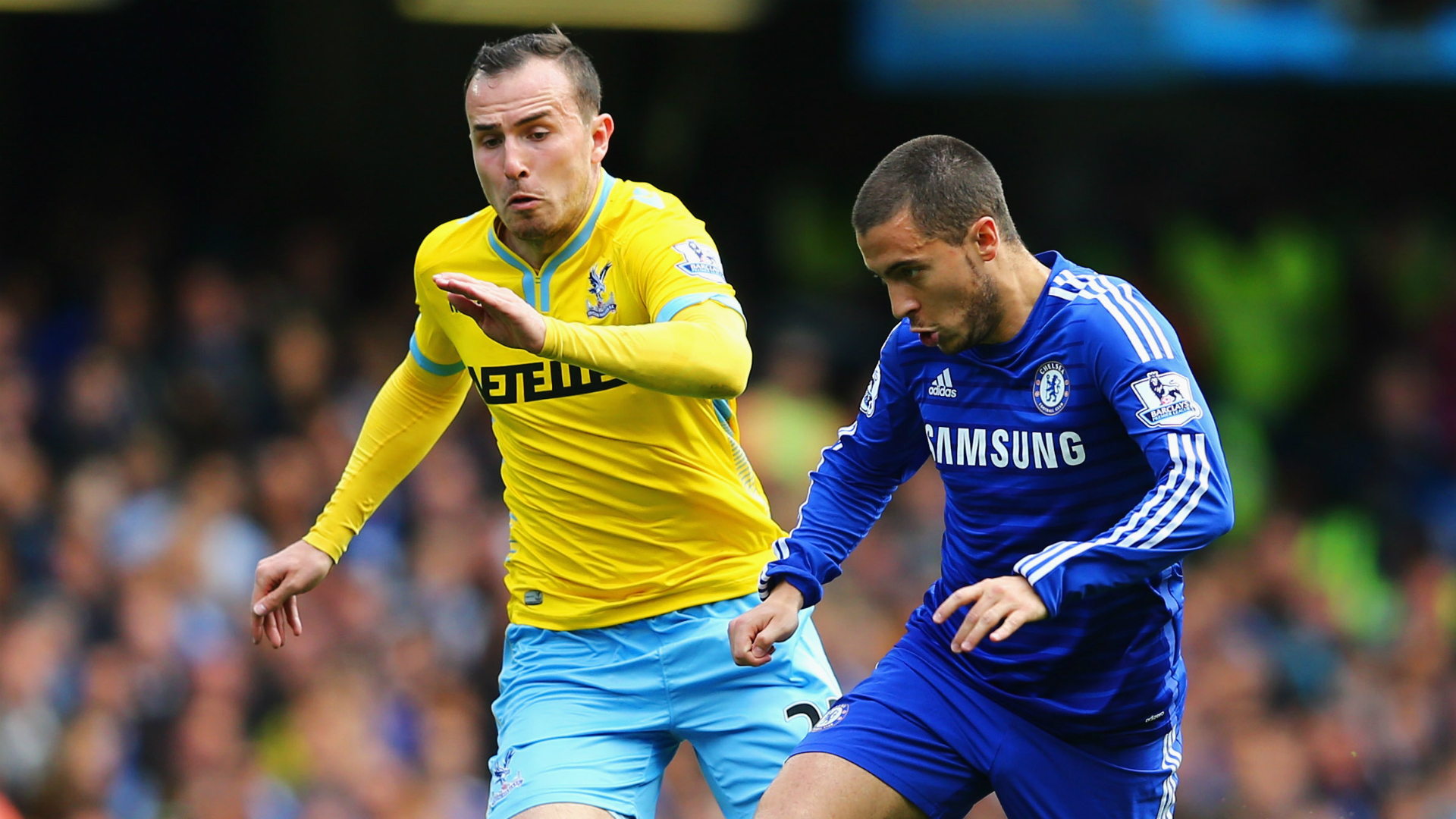 Jordon Mutch Crystal Palace; Eden Hazard Chelsea