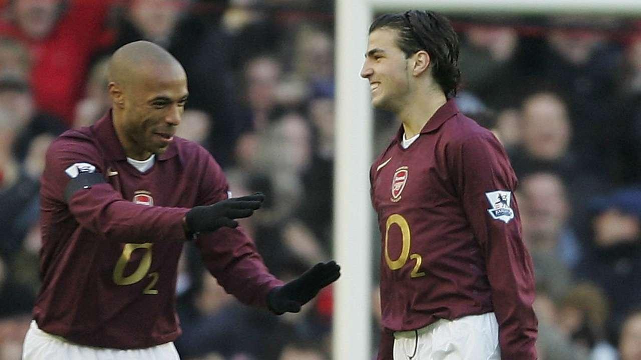 Thierry Henry, Cesc Fabregas Arsenal November 2005