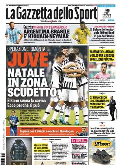 La Gazzetta dello Sport 121115