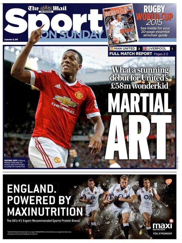 Mail Sport on Sunday 130915