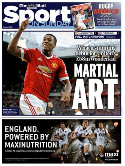 Mail Sport on Sunday 130915