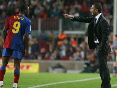 Josep Guardiola Samuel Eto'o Barcelona Almeria La Liga 10252008