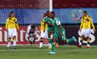 Joy Bokiri celebrates for Nigeria U17 women against Colombia