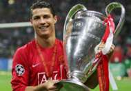 Cristiano Ronaldo 2008 champions league trophy