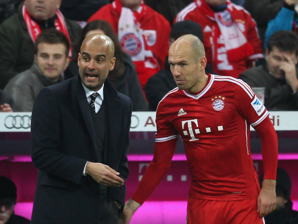'Master of offensive football' Guardiola the best coach in the world, says Robben