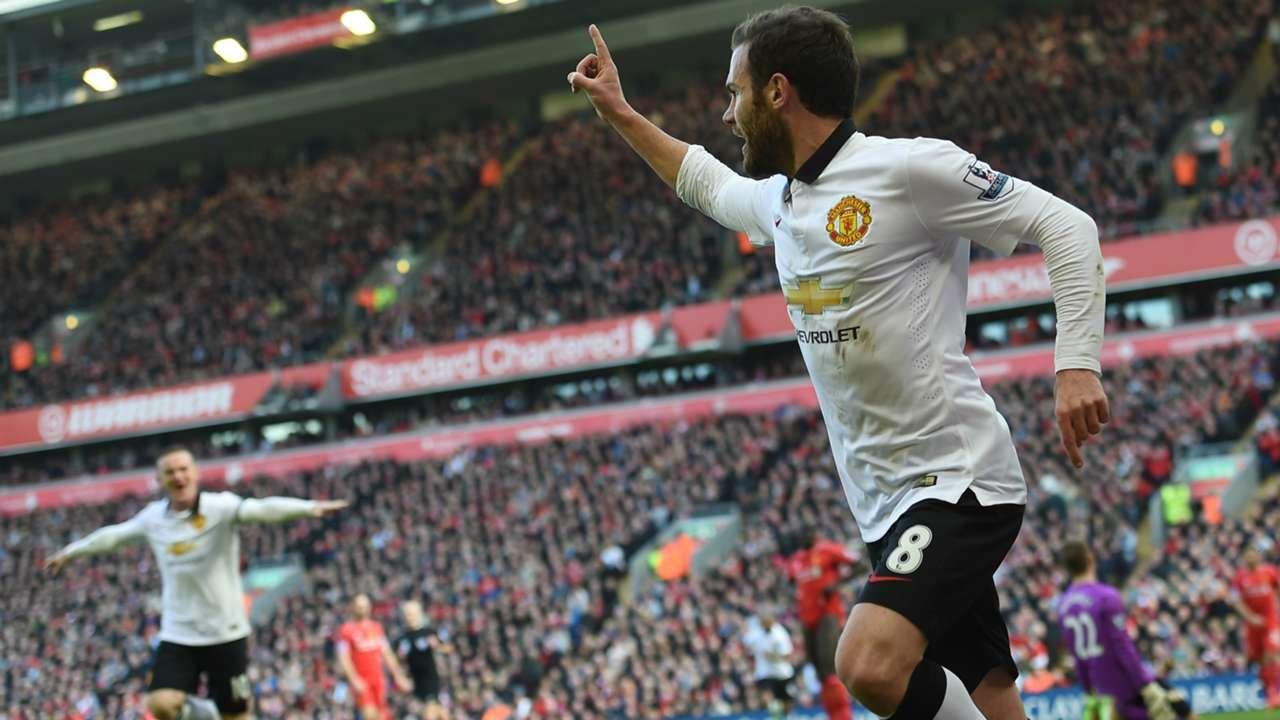 Juan Mata Liverpool Manchester United Premier League 220315