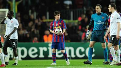 Lionel Messi Barcelona Arsenal Champions League