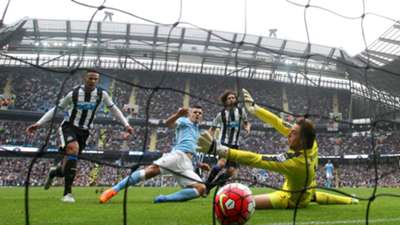 Sergio Aguero Manchester City Newcastle Premier League 03102015