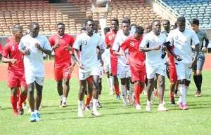 Harambee Stars training for Namibia match.