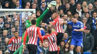 Fraser Forster Branislav Ivanovic Chelsea Southampton Premier League 15032015