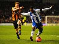Stephen Quinn Kazenga LuaLua Brighton & Hove Albion Hull City FA Cup 02172014