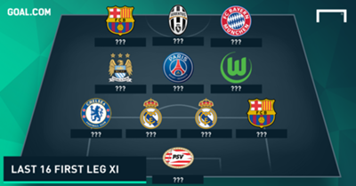 Champions League team of the last 16 first legs