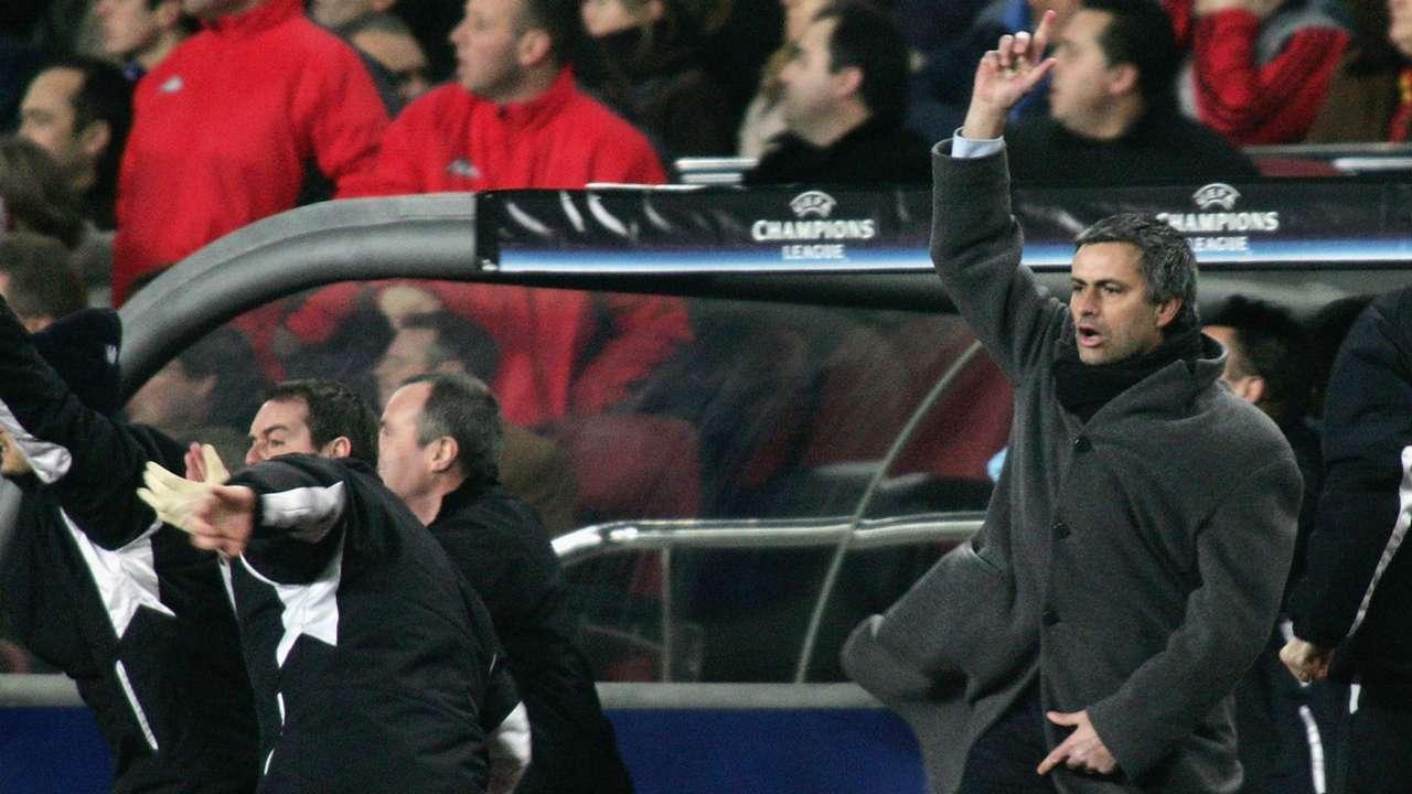 Jose Mourinho Champions League Barcelona v Chelsea 200