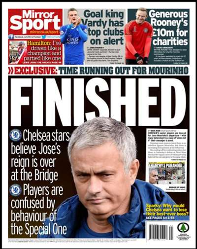 Daily Mirror Back Page October 27