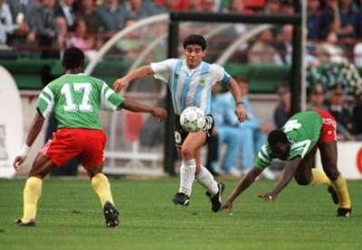 Diego Maradona Argentina World Cup 1990 Cameroon