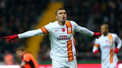 STSL: Kayserispor-Galatasaray: Burak Yılmaz celebrating his goal