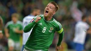 Steve Davis Northern Ireland v Greece 081015