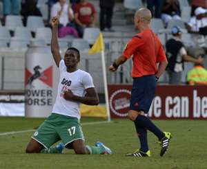 Nigeria's Chinonso Obiozor celebrates goal against Zimbabwe