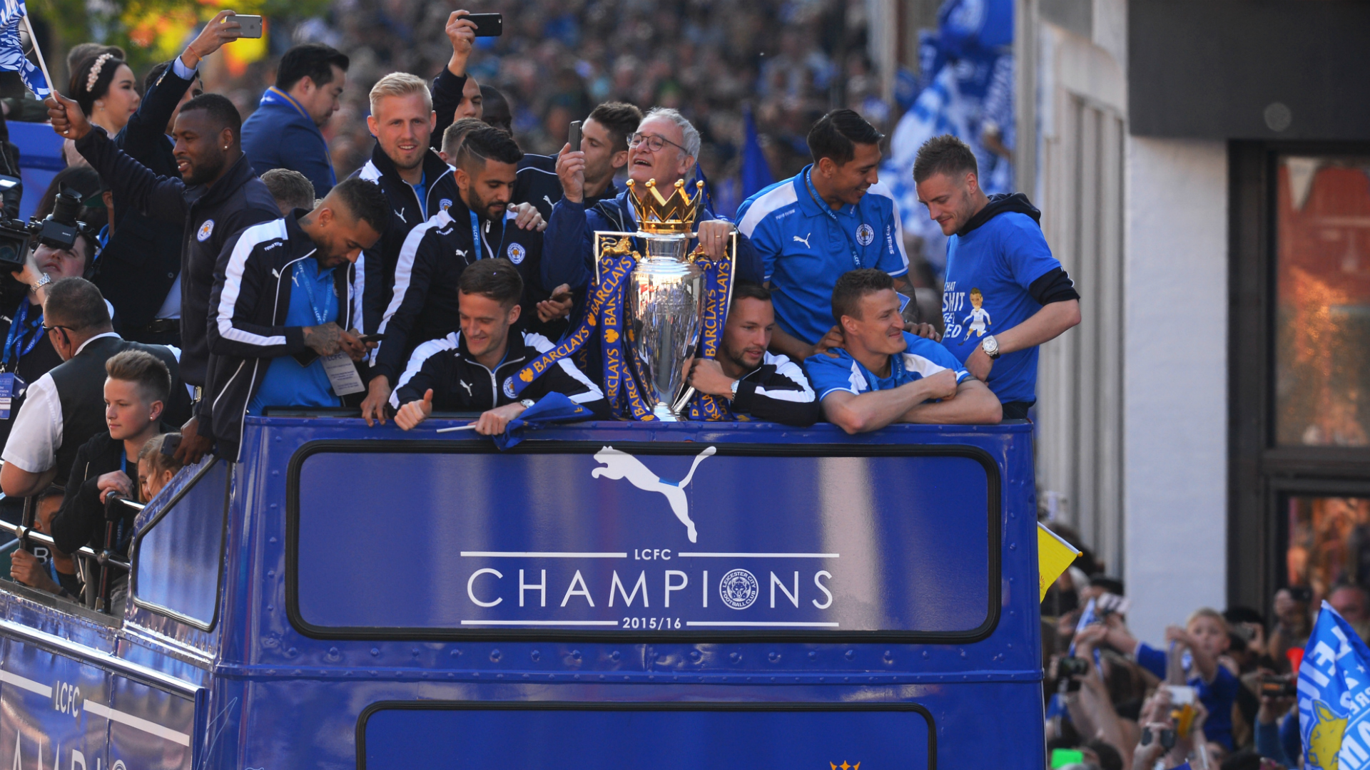 HD Leicester title parade