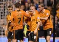 Wolverhampton Wanderers players celebrate