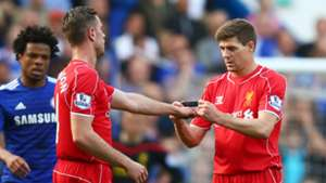 Jordan Henderson Steven Gerrard Liverpool 10052015